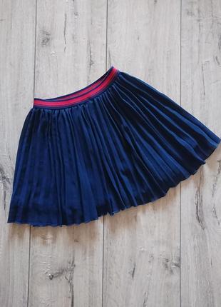 Плиссированная юбка в школу некст next 6-7 лет