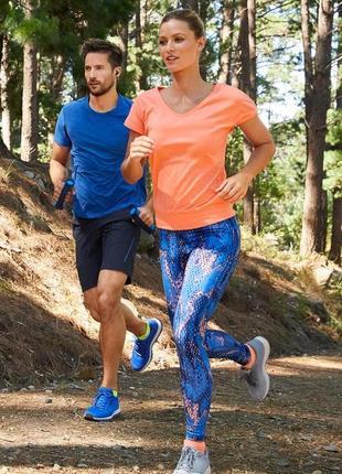 Новые спортивные лосины леггинсы tchibo синие