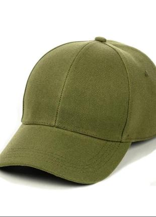 Оливковая кепка однотонная