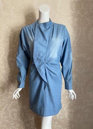 Isabel marant оригинал голубое джинсовое дизайнерское платье