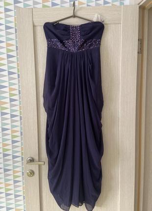 Вечернее длинное платье в греческом стиле