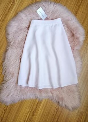 Нежно-розовая шифоновая юбка top secret