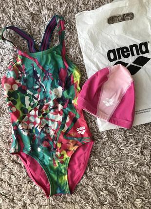 Комплект arena купальник и шапочка для плавания1 фото