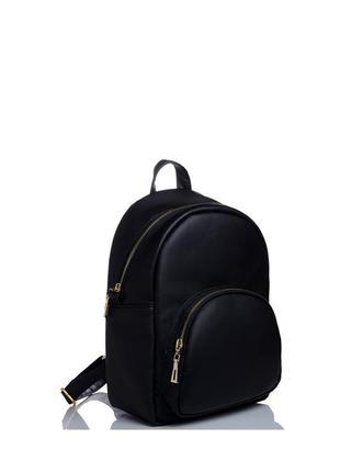 Женский черный рюкзак для учебы.экокожа