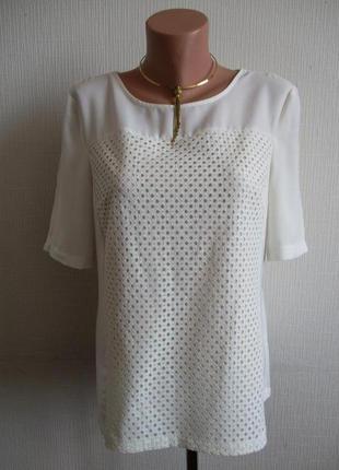 Блузка с кружевом marks&spencer