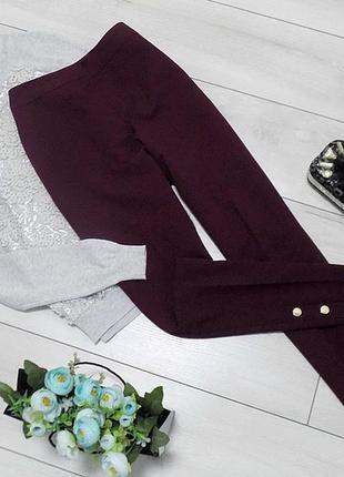 Стильные брюки с декоративными пуговицами f&f, размер 8