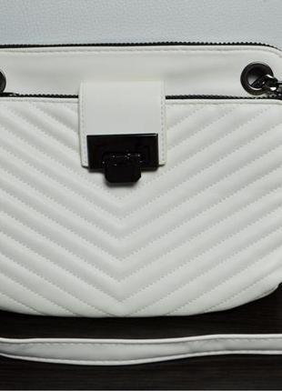 Повседневная белая сумка с длинным ремешком