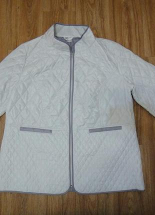 Большой размер шикарная стеганая белая куртка р.54-56 германия
