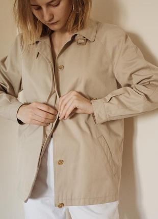 """Винтажный базовый бежевый укороченный тренч куртка """"dannimac"""", размер s"""