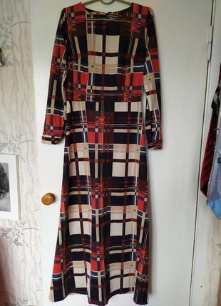 Нарядное натуральное длинное платье макси с поясом