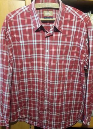 Мужская красная рубашка в клетку arrow usa!
