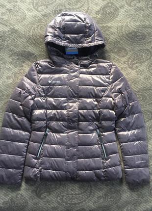 Деми куртка женская columbia, весна лёгкая xs s m лиловый 2020