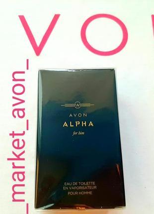 Мужская парфюмированная вода alpha