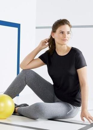 Спортивная футболка для фитнеса, йоги l 44-46, сrivit, германия