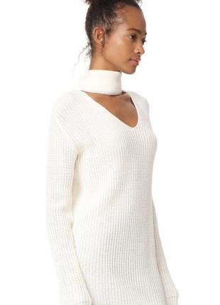 1+1=3 молочный теплый свободный свитер оверсайз с чокером glamorous, размер 46 - 48