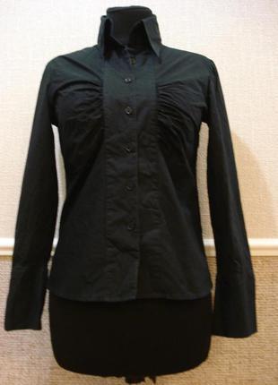 Классическая приталенная рубашка с воротником