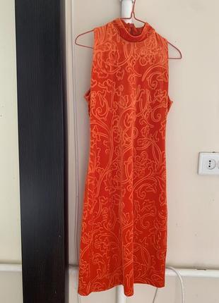 Платье миди бархатное велюровое