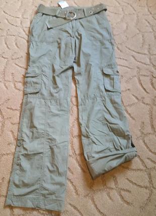 Классные брюки карго на подкладке myc