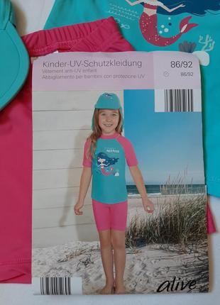 Купальный костюм на девочку. солнцезащитный  купальник