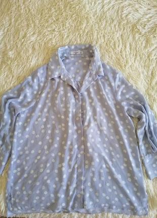 Актуальна і оригінальна в горох блузочка оверсайз mango basigs