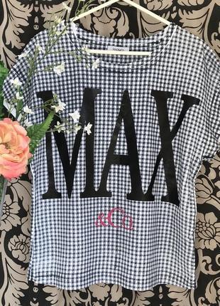 Люксовая ♥️😎♥️ хлопковая футболка блузка max mara.