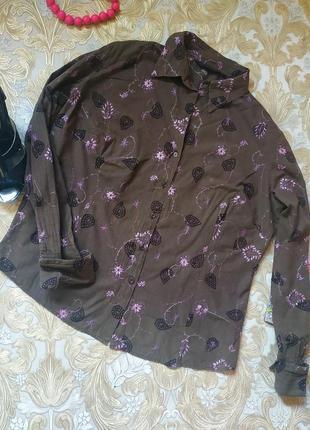 Рубашка с вышивкой. на бирке- 20 р-р(54)