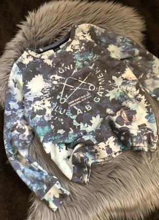 Цветной свитер светр кофта с принтом