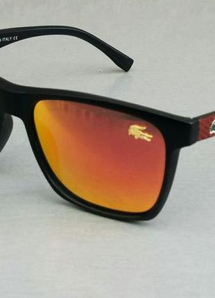 Lacoste очки мужские солнцезащитные зеркальные оранжевые поляризированые