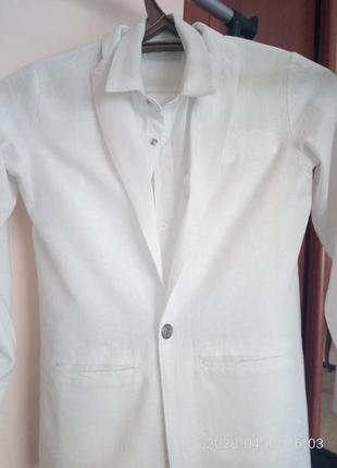 Лляний костюм трійка ,  на зріст 140-146.