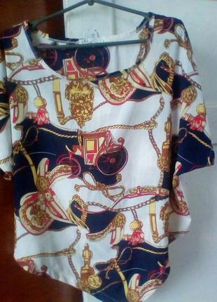 L&a блуза кареты,сбруя в стиле hermes.