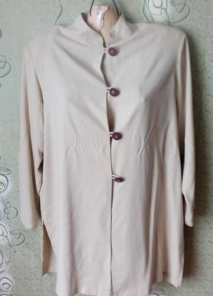 Hamilton kennedy шёлковая блуза,рубашка удлинённая.