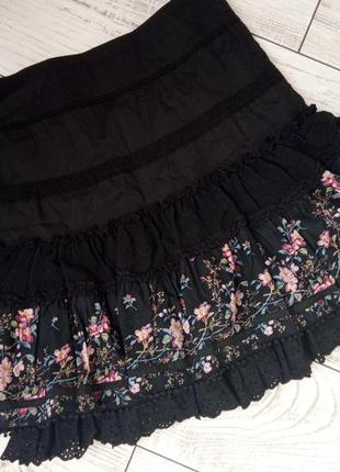 Шикарная юбка 100% хлопок