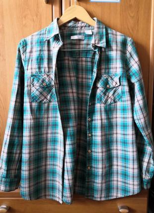 Фланелевая рубашка bonprix в клеточку
