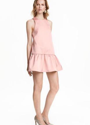 Нарядное платье мини на выпускной цвета пудры
