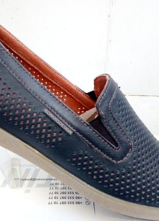 Летние туфли кожа