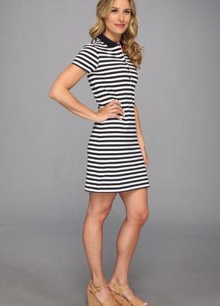 Lacoste поло летнее платье с поясом