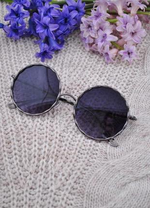 Красивые солнцезащитные круглые женские очки