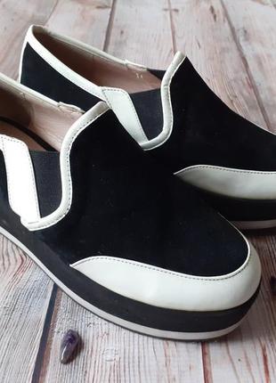 Замшевые лоферы туфли на платформе балетки босоножки кроссовки джинсы худи