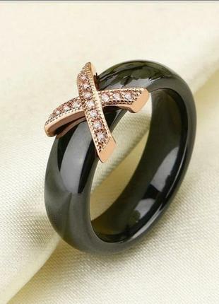 Кольцо керамика керамическое черное колечко