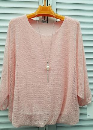 Блузка сетка с кулоном