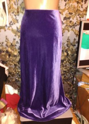 Бархатная юбка длинная