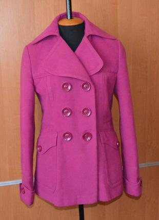 Пальто next  фуксия 12 размер