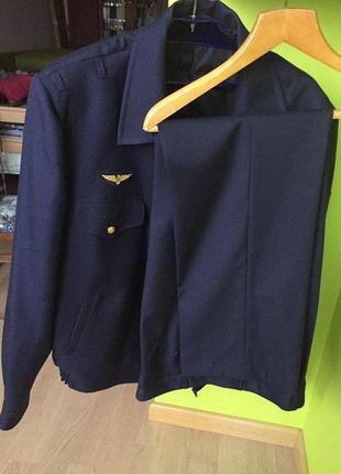 Костюм форма машиниста метро новый : пиджак куртка на молнии + брюки2 фото