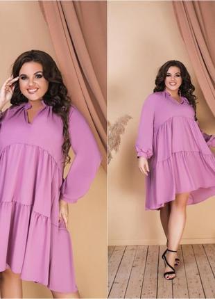 Сукня вільна (42-52) мод 581