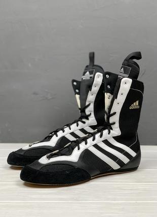 Боксерки adidas original 45 мужские борцовки идеал чёрные высокие