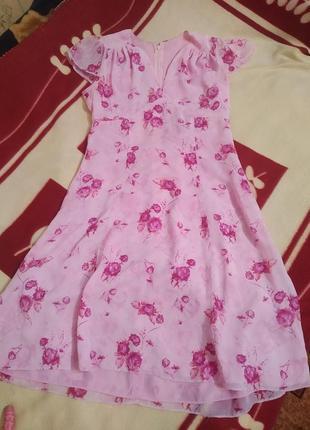 Очень нежное шифоновое  платье
