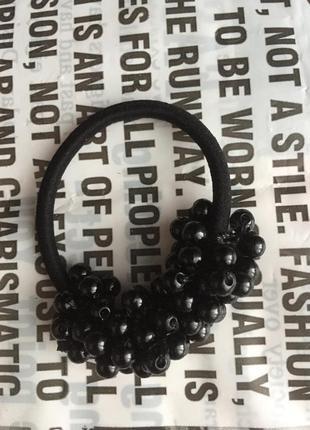 Резинка для волос чёрная
