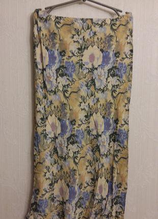 Макси юбка с эфектным крупным цветочным принтом wallis