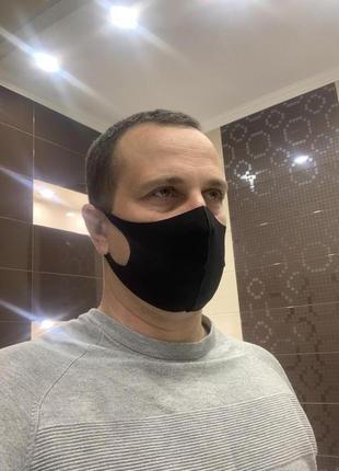 Антисептическая многоразовая маска pitta mask черного цвета \ маска