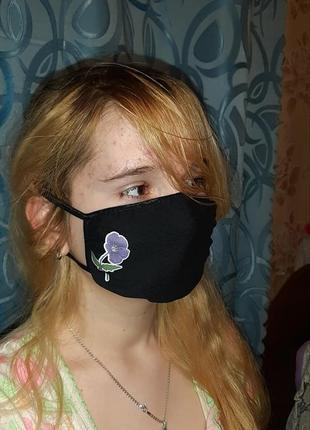 Качественные фабричные трикотажные многоразовые защитные маски повязки
